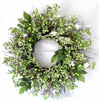 Artificial green wreaths with Green Berry