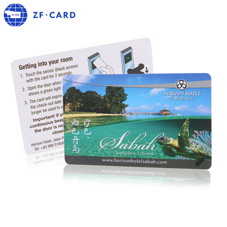 Hotel card with MIFARE(R) Classic 1k chip double sides printing