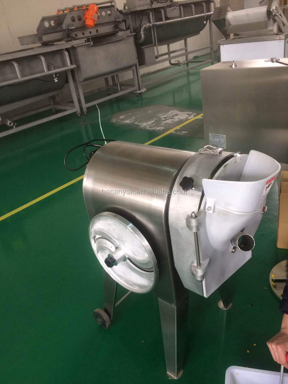 DQC-611 Stainless Steel Fully Automatic Vegetable Cutter Slicers Carrot Potato Radish Dicing Machine Dicer Cube Cutter
