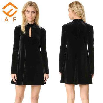 2017 Black Velvet Formal Evening Dress Long Sleeve Designs Pakistani