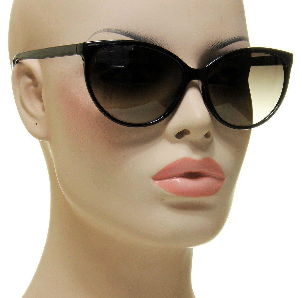 61e3d1adc20a Women s Black Cat Eye Sunglasses Retro Classic Designer Vintage Fashion  Shades