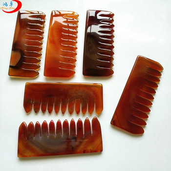 Factory direct Eco-friendly hair jade comb Crystal Energy combs