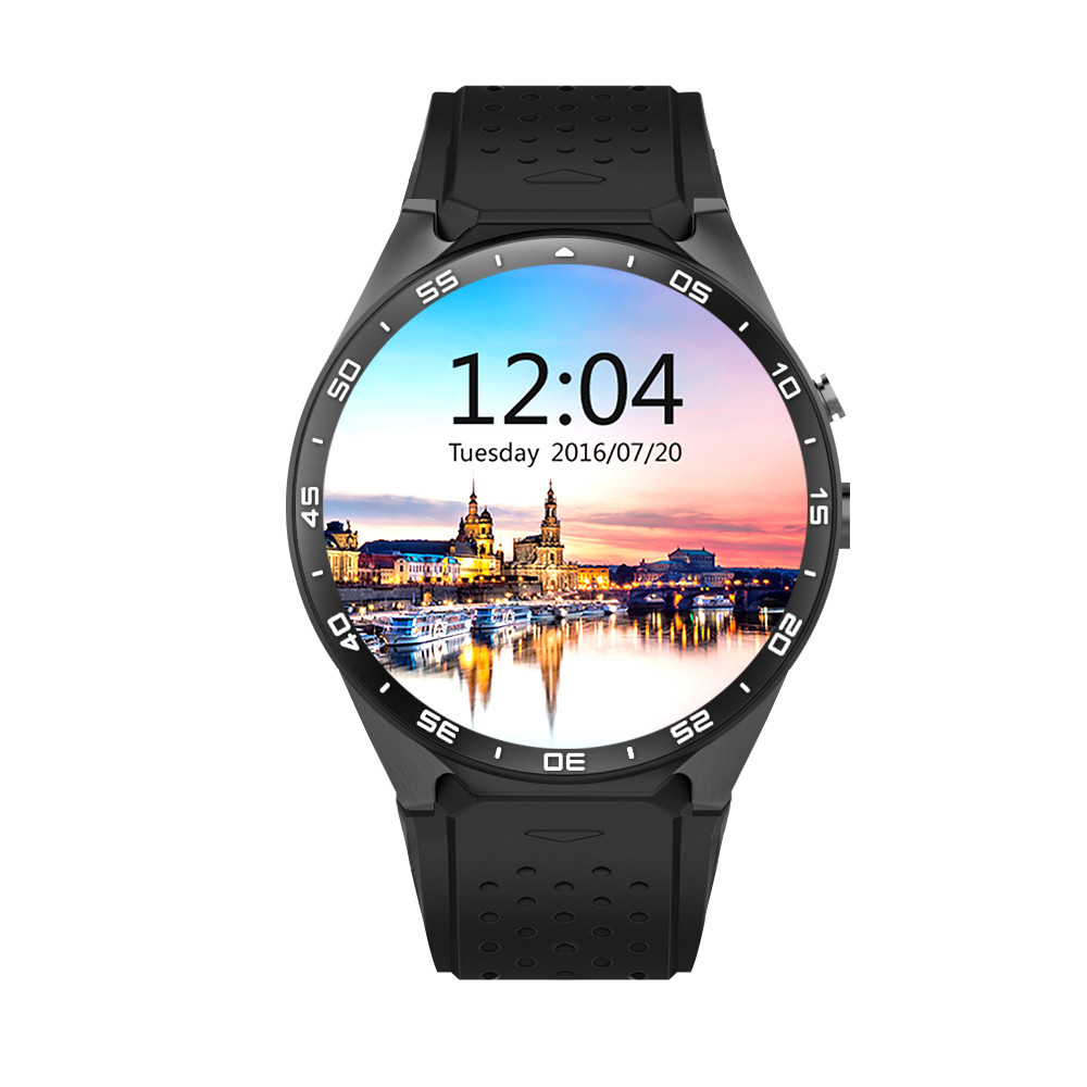 KW88 Wifi smart watch,android5.1,4GB smatwatch with Heart Rate,GPS Tracker