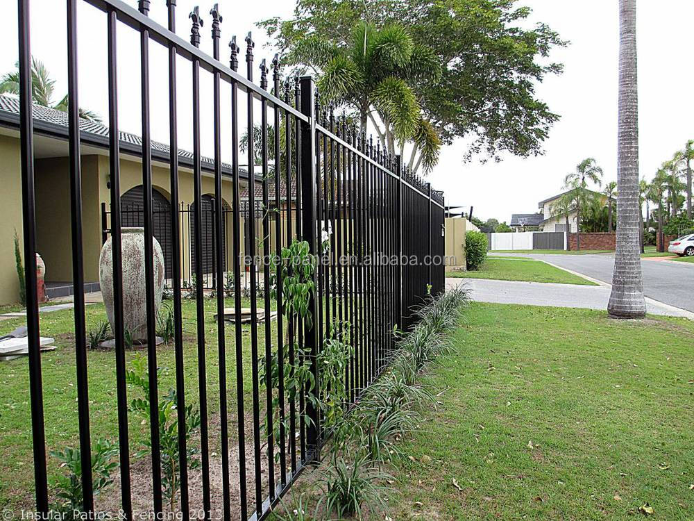 Powder Coated Security Wrought Iron Fence Price Spear