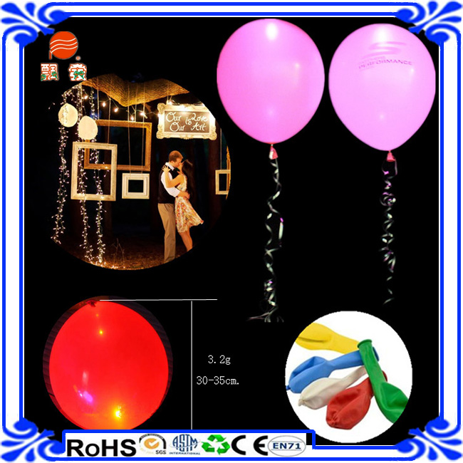 Rubber Balloon For Culvert Making Mini Led Balloon Lights