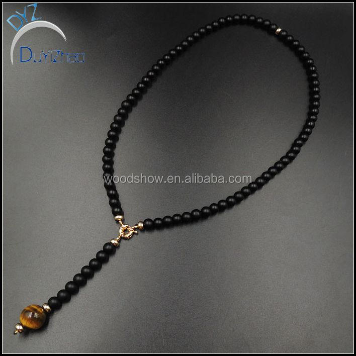 nature stone tiger eye mens rosary bead necklace