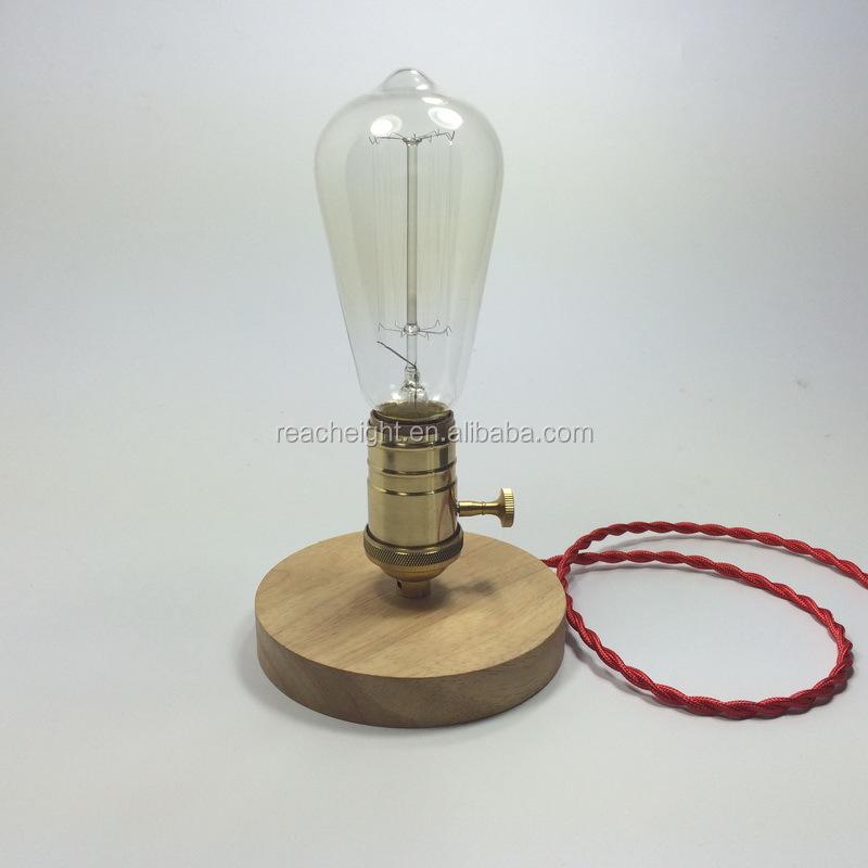 Table Light Vintage Edison Screw Socket