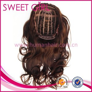 wavy 100% human hair extensions curly wave brazilian red hair drawstring ponytail