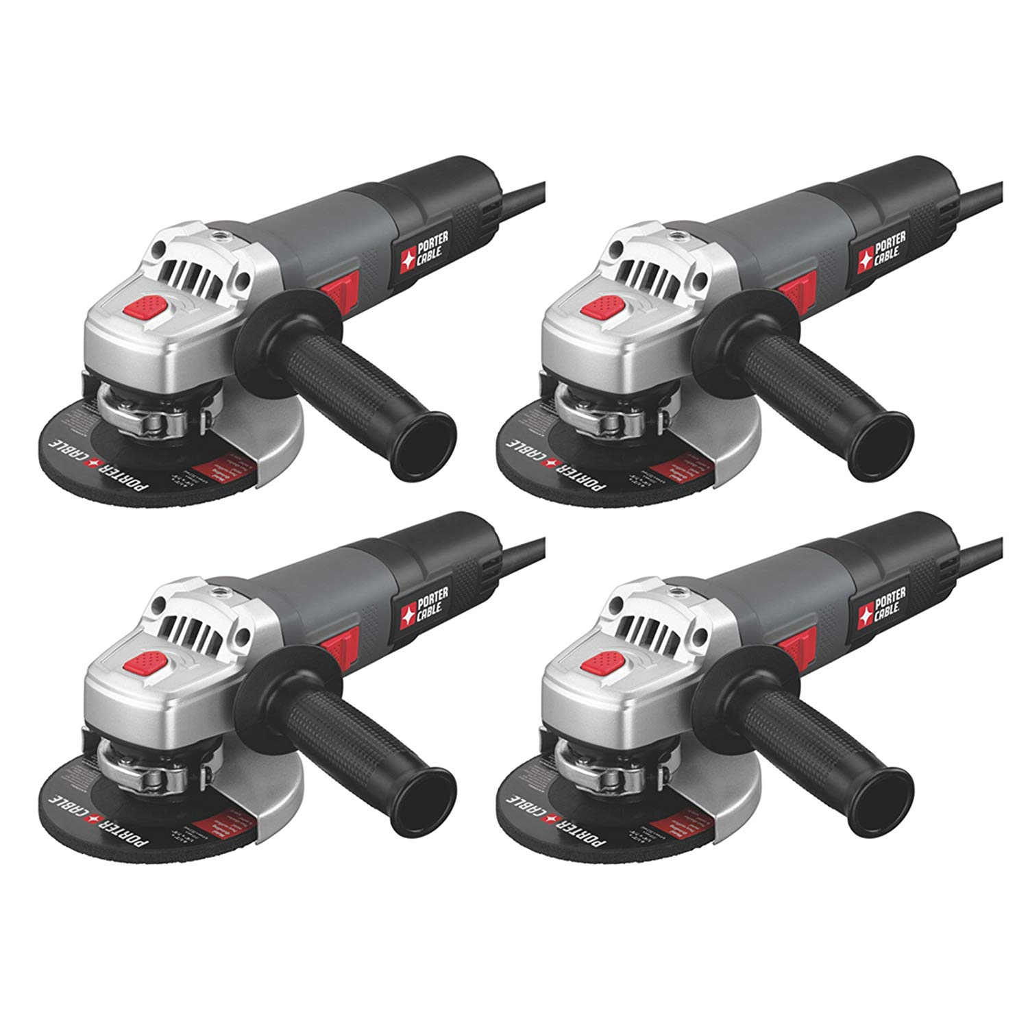 Porter Cable PC60TAG 4-1/2 6 Amp 11,000 RPM Corded Angle Grinder (4-Pack)