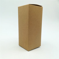 Small brown color kraft paper gift box for packaging