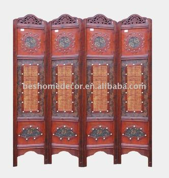 chinese style antique wooden room divider folding screen wood room divider