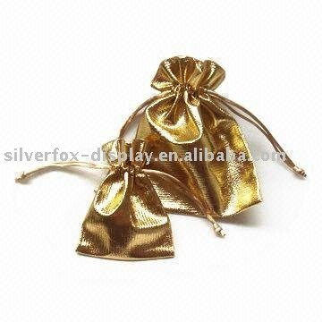Metallic fabric pouch