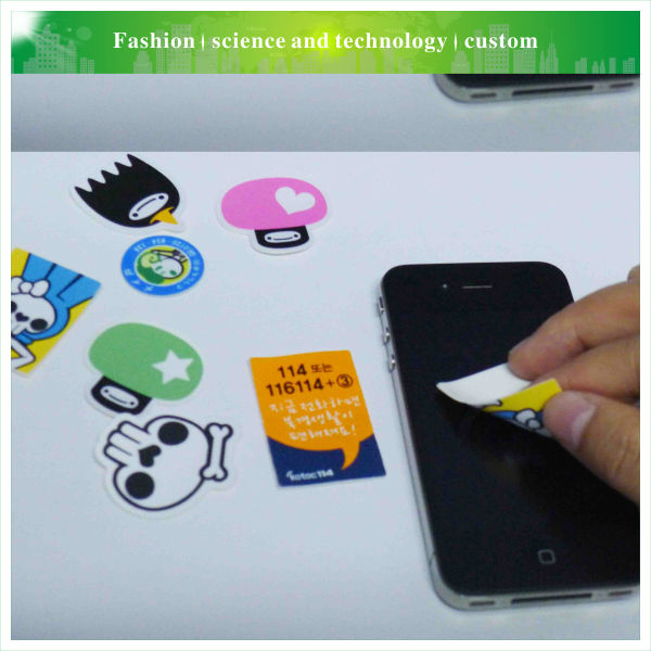 Colorful cute cell phone promotion lcd sticky pad cleaner kit