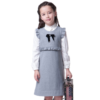 e5e75eecc2730 Kids Fancy Pinafore Grey Girls Winter School Dress - Buy Kids Girls ...