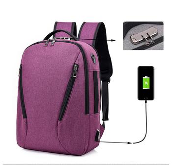 45e5c1e60d5f4 Outdoor-reisen Laptop Wasserdichte Anti Theft Rucksack Mit Usb-lade ...
