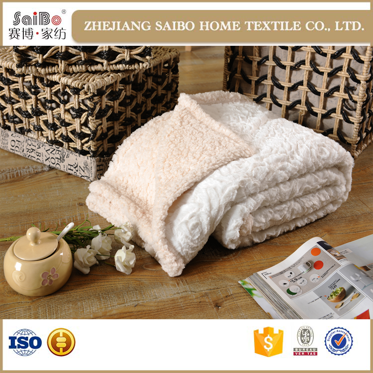 super thick warm polyester orgainc cottom blanket