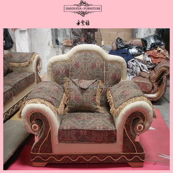 French Style Solid Oak Wood Sofa Design Old Style Sofa For Bedroom
