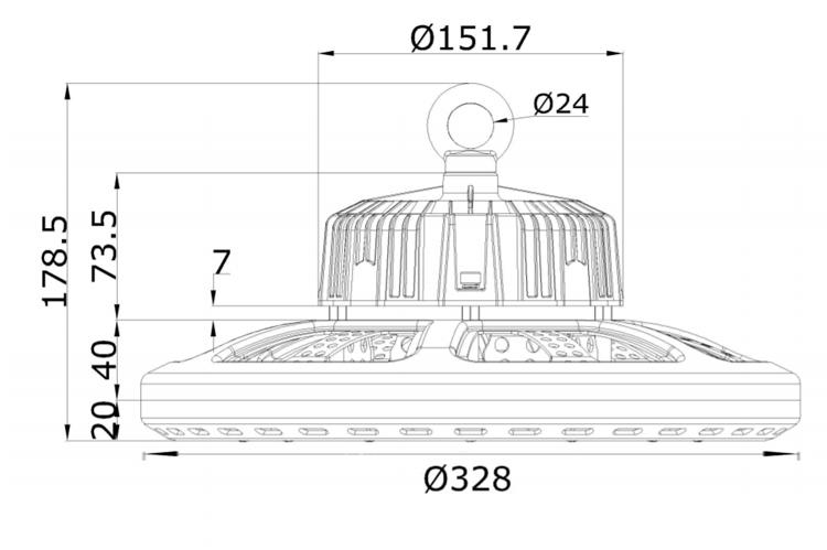 size 150W UFO