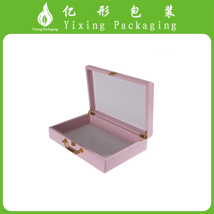 Luxury Bespoke Pink Leather Paper Cosmetic Gift Box