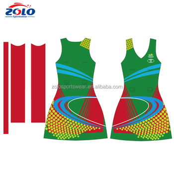 Cheap Custom Made Sublimation Printing Netball Jerseys