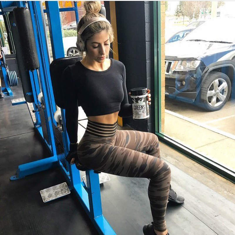 Mode Camo Druck Leggings Camouflage Hohe Wist Sweat Hosen Komfortables Training Push Up Fitness Frauen Leggings