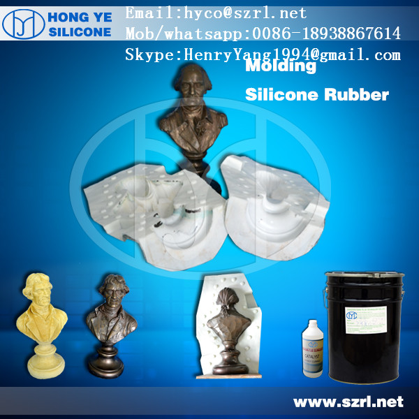 RTV2 mould making silicone raw material for gypsum/paster products mouldings