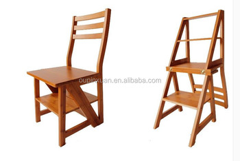 New Arrival Useful Multifunctional Ladder Chair For Families Folding Bamboo Step  Ladder Chair