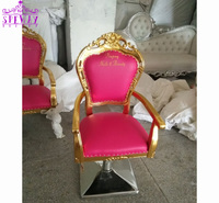2019 Hottest antique styled salon beauty chairs / pink styling chairs