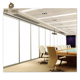 Commercial office double internal glass walls modular partition materials