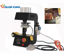 Colorking logo printing mini offset leather pneumatic hot foil stamp printing machine