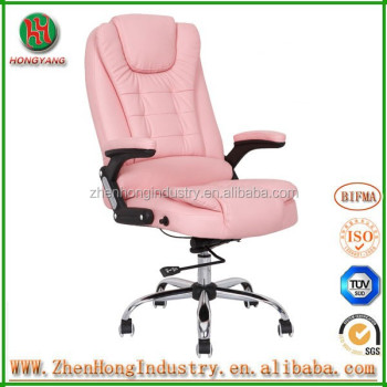 Bw Comfortable Executive Pink Office Chair Leather With Mage