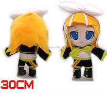 Japanese Popular Singer Style Hatsune Miku Vocaloid Kagamine Rin Plush Doll Anime Stuffed Toy