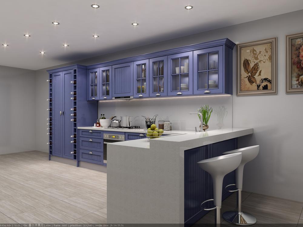 2018 Laminate Materials Brun Kitchens Cabinets Hot Sell ...