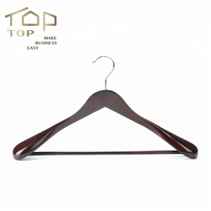 Extra Wide Shoulder Wooden Suit Hanger For Coats And Pants,Beautiful Quality Short Neck Hanger Turkey