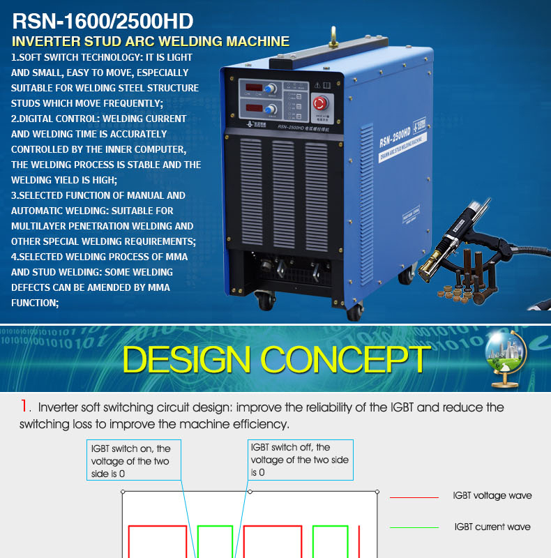 2019 Latest popular Stud welding machine huayuan