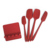 Heat-Resistant 5-pcs Kitchen Utensils Set Seamless Design Pro-Grade Non-Stick Silicone Spatulas
