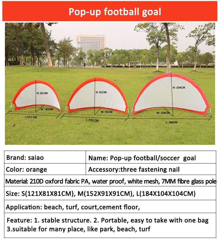 foldable pop up portable soccer goal buy pop up portable. Black Bedroom Furniture Sets. Home Design Ideas