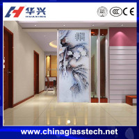 Residential Never-fading Beautiful Picture Decorative Glass Partitions