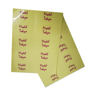 China custom clear print PVC self adhasive sticker