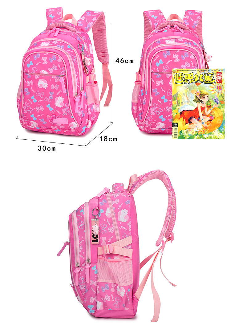 3pcs nylon school bags backpack waterproof girls school bag