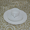 royal 16pcs dinner set embossed white porcelain made for European