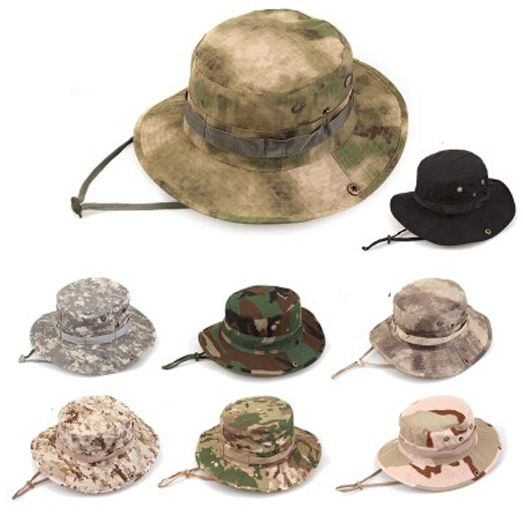 0cd89bb3280 Tactical Airsoft Sniper Camouflage Boonie Hats Nepalese Cap Militares Army  Mens American Military Accessories Hiking A-tacs FG