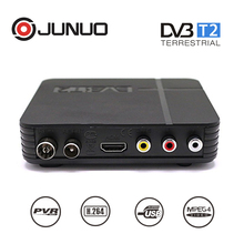 Hot selling mini decoder dvb-t2 digital receiver tv box set top nox for russia