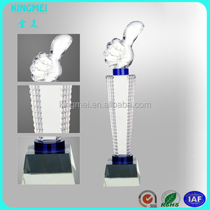 New style No. 1 awards,crystal No.1 figurine for glass awards with base