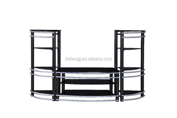 Modern Gl And Metal Tv Stand Furniture For View