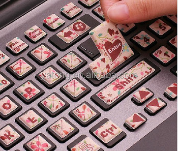 Cute cartoon laptop keyboard stickers