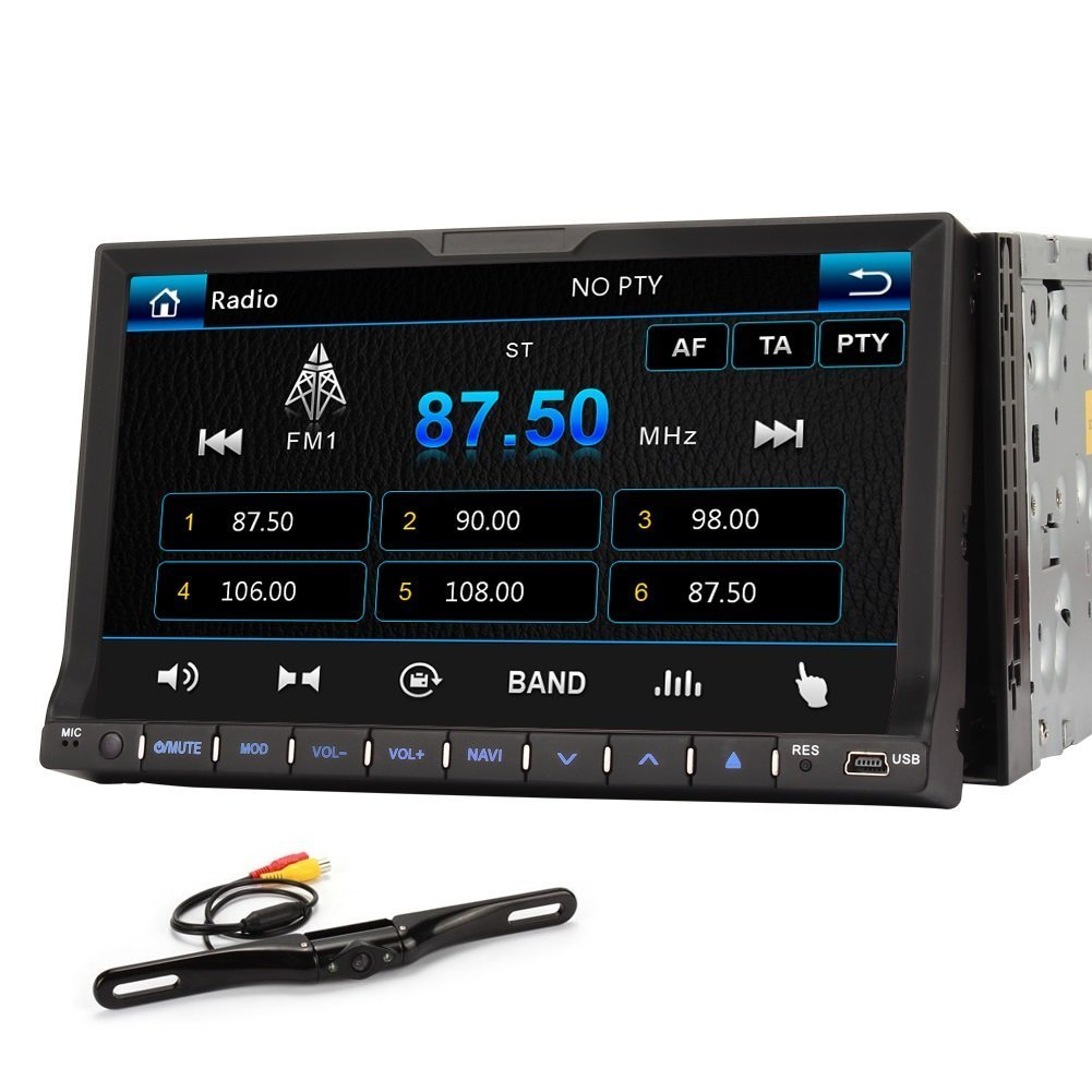 Generic 7 Inch Single Din Car GPS Navigation Headunit CD Player Receiver with Rear Camera