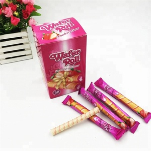 Strawberry Flavor Wafer Rolls Biscuit