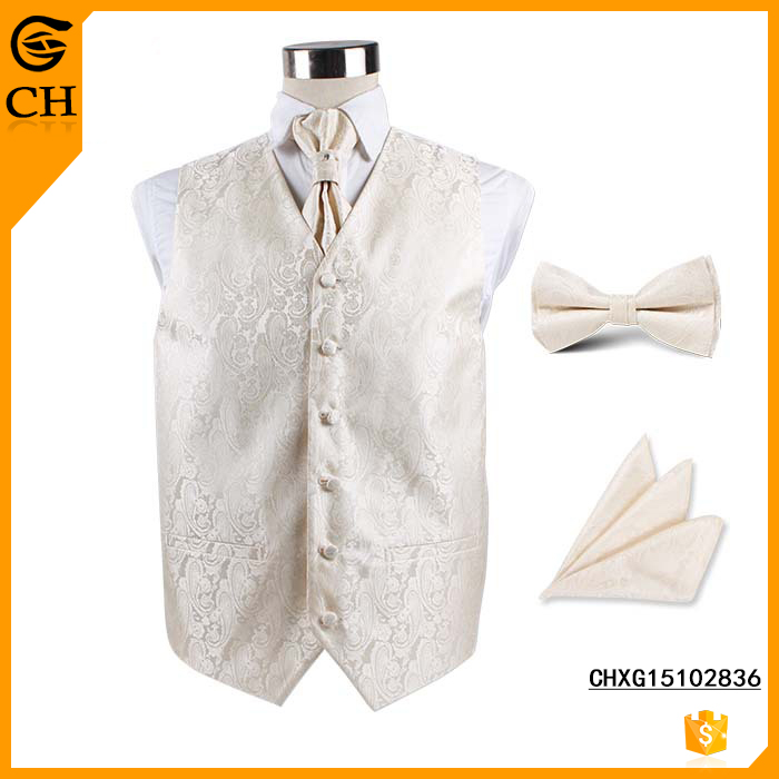 Men's Latest Style polyester Paisley Vest For Wedding