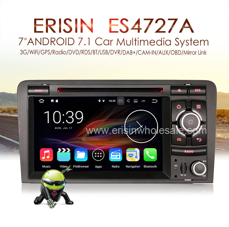 Android 7 1 Autoradio Lcd Cd Player Gps Dab+bluetooth For Audi A3 S3 Rs3  Rnse-pu - Buy Quad-core,Touch Screen Car Radio Gps,2gb Ram Product on